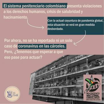 Mit einer Plakatkampagne macht die landesweite Gefängnisbewegung seit Tagen auf die lebensbedrohliche Lage aufmerksam