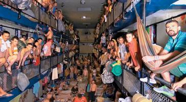 """""""Abstandhalten""""? Geht wohl kaum in den kolumbianischen Gefängnissen"""