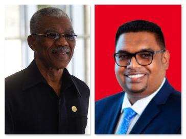 Der amtierende Präsident, David Granger (links) oder Irfan Ali - immer noch nicht ist klar, wer die Wahl in Guyana gewonnen hat