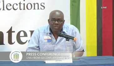Pressekonferenz der Wahlbehörde von Guyana am Dienstag