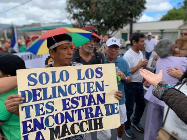 """""""Nur die Verbrecher sind gegen die MACCIH"""": Proteste in Honduras gegen den Rauswurf der Untersuchungsmission"""