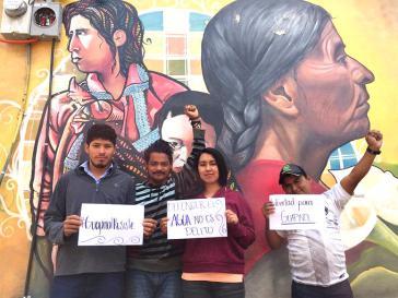 """""""Das Wasser verteidigen ist kein Delikt"""": Solidarität mit den acht Inhaftierten aus Guapinol"""