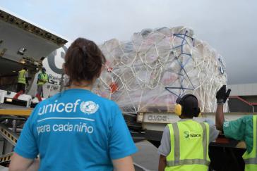 Die UNO koordiniert die von Deutschland transportierten Hilfsgüter zur Bekämpfung der Corona-Pandemie in Venezuela