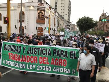 Auch in Lima solidarisierten sich die Menschen mit dem Agrarstreik