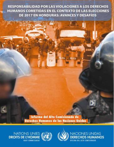 Deckblatt des Berichts des Hochkommissariats für Menschenrechte der Vereinten Nationen in Honduras
