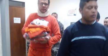 Jorge Glas bei seiner Verlegung in das Hochsicherheitsgefängnis in Latagunga
