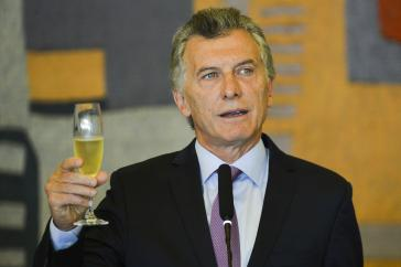 Argentiniens ehemaliger Präsident, Mauricio Macri, dürfte momentan nur in Paris Grund zum Anstoßen haben
