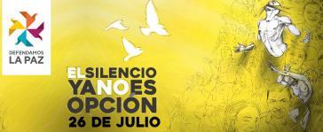Internet-Protestaktion gegen die Morde an Aktivisten und ehemaligen Guerillamitgliedern am 26. Juli