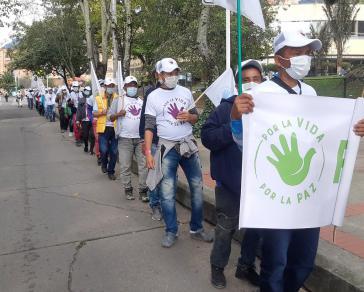 """Für das Leben - Für den Frieden"": Am Dienstag trafen die Farc-Mitglieder in Bogotá ein"