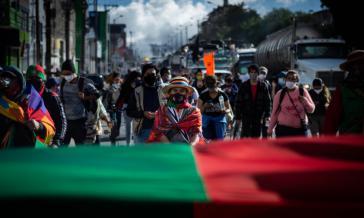 """Am """"Marsch für die Würde"""" beteiligten sich Menschen aus 40 Organisationen aus dem ganzen Land. Sie fordern von der Regierung Sofortmaßnahmen gegen die systematischen Morde"""