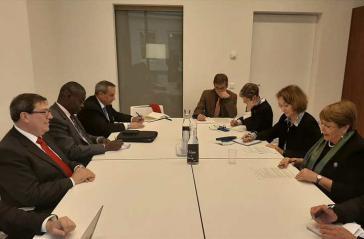 Kubas Außenminister Rodríguez sprach am Dienstag in Genf mit der UN-Hochkommissarin für Menschenrechte, Bachelet