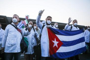 Ärzte der Brigade Henry Reeve sind im italienischen Turin im Einsatz gegen die Corona-Pandemie