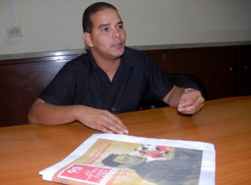 Yoerky Sánchez Cuellar ist Chefredakteur der Tageszeitung Juventud Rebelde