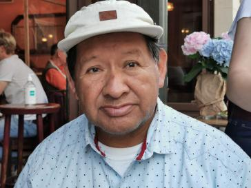 Der Älteste Nasa-Indigene Guillermo Tenorio in Deutschland