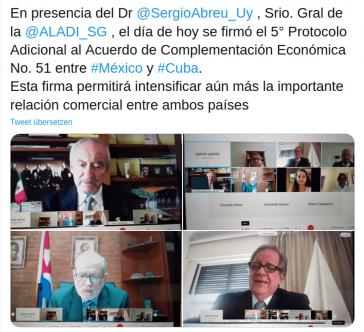 Lateinamerikanische Integrationsvereinigung (Aladi) mit Sitz in Montevideo, Uruguay