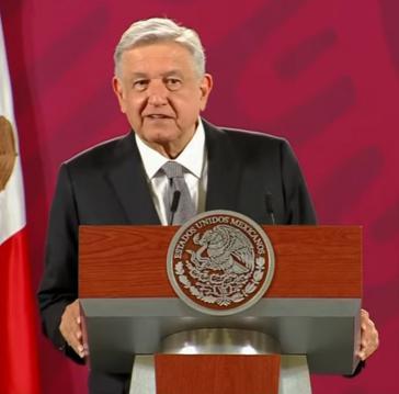 Mexikos Präsident López Obrador bei seiner Pressekonferenz am 17. August (Screenshot)