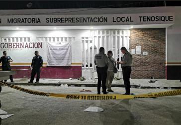 Geflüchtete im Migrationszentrum von Tenosique protestierten für sofortige Schutzmaßnahmen und für ihre Freiheit