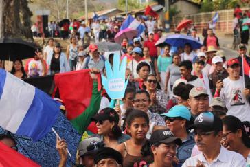 Fragwürdig: Massendemo gegen den Virus in Managua, Nicaragua