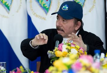 Nicaraguas Präsident Ortega bei seiner Ansprache am Mittwoch