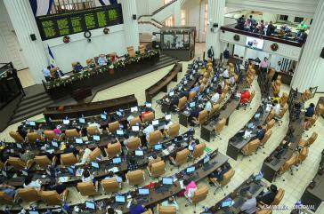 Mit den Stimmen der 70 FSLN-Abgeordneten wurde das Gesetz am 21. Dezember vom Parlament beschlossen