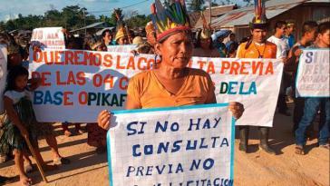 Indigene in Lateinamerika - hier in Peru - kämpfen für ihr Recht auf vorherige Konsultation in allen ihre Gemeinschaften betreffenden Belangen