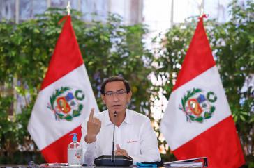 Perus Präsident Vizcarra, hier bei einer Pressekonferenz am 28. Oktober