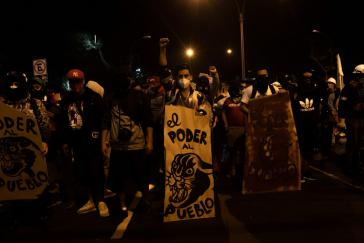 """""""Die Macht dem Volk"""" fordern Demonstrierende in Peru"""