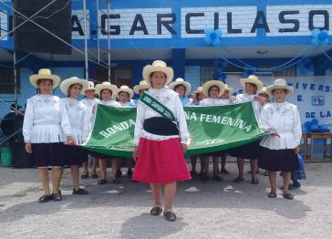 Lourdes Contreras (2. von links) ist u.a. aktiv in den Rondas Campesinas Femeninas de Llushcapampa in der Region Cajamarca