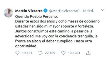 Der abgesetzte Präsident wendet sich in einem Tweet an die Bevölkerung und deutet an, in der Politik des Landes weiter eine Rolle spielen zu wollen