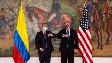 Kolumbiens Präsident Duque und US-Außenminister Pompeo in (Corona-)Eintracht