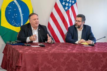 Auch der brasilianische Außenminister, Ernesto Araujo, empfing seinen Amtskollegen in gemeinsamer Ablehnung der venezolanischen Regierung