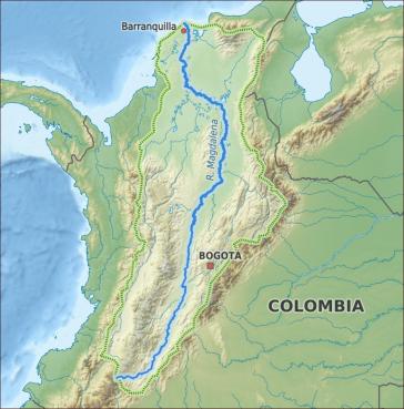 Das Wassereinzugsgebiet des Rio Magdalena ist Heimat für 80 Prozent der kolumbianischen Bevölkerung