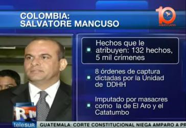 Salvatore Mancuso Gómez war eine führende Figur im Drogenhandel und in den paramilitärischen Strukturen von Kolumbien
