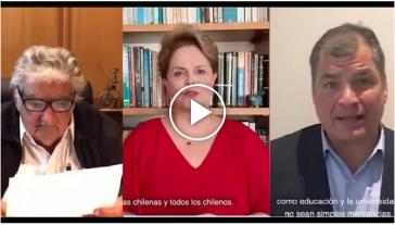 Bilder José 'Pepe' Mujica, Dilma Rouseff, Rafael Correa