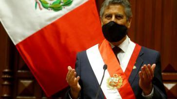 Präsident Francisco Sagasti bei der zweiten Amtseinführung innerhalb einer Woche