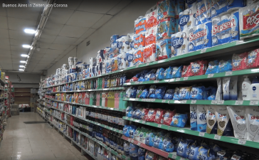 In Buenos Aires wenig Probleme mit Hamsterkäufen, den Menschen fehlt das Geld dazu