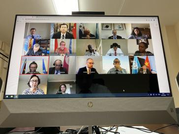 """Am 28. April fand die Debatte im UN-Sicherheitsrat zu Venezuela unter """"Corona-Bedingungen"""" als Videokonferenz statt"""