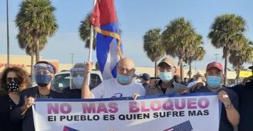 Proteste gegen die US-Blockade in Miami