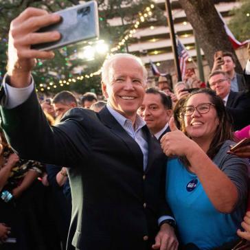 Der Kandidat der Demokratischen Partei bei einer Wahlkampfveranstaltung in San Antonio, Texas