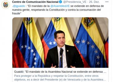 Nach den Parlamentswahlen vom 6. Dezember verlängert die venezolanische Opposition um Juan Guaidó ihre parallele Institution