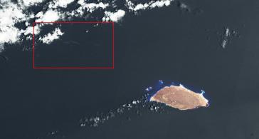 Bildausschnitt links oben soll Ölteppich nach dem Crash vor Venezuela zeigen
