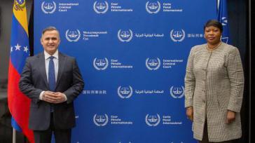 Generalstaatsanwalt Saab und die Chefanklägerin beim Internationalen Strafgerichtshof, Bensouda