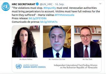Bei einer virtuellen Pressekonferenz stellten die drei Mitglieder der Fact Finding Mission am 16. September ihren Bericht vor