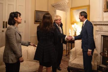 Der britische Premier Johnson empfing Guaidó in London