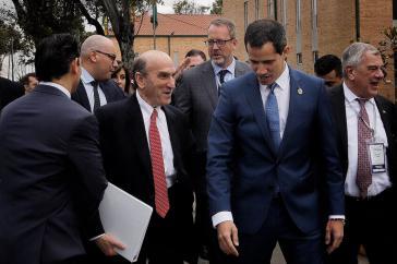 In Bogotá traf Guaidó auch den US-Sonderbeauftragten für Venezuela, Elliot Abrams