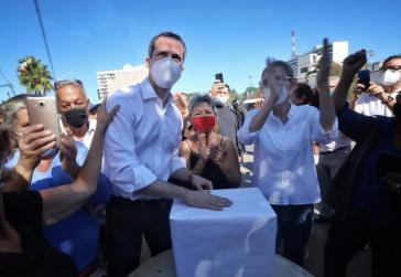 Juan Guaidó bei der Volksbefragung seines Oppositionslagers