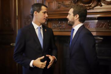 Juan Guaidó und Spaniens PP-Chef Pablo Casado