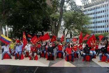 """Auch das neu gegründete Linksbündnis """"Revolutionäre Volksalternative"""" hat seine Kampagne gestartet, hier im Bundesstaat Zulia"""