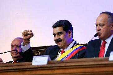 Sieht die Wirtschaft des Landes auf einem guten Weg: Venezuelas Präsident Maduro, hier nach seiner Rede an die Nation
