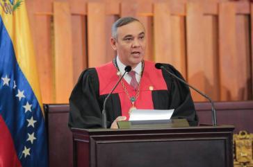 Im Visier der US-Regfierung: Maikel Moreno, seit Februar 2017 Präsident des Obersten Gerichtshofes von Venezuela
